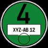 Wikimedia; User: Markus1983; http://commons.wikimedia.org/wiki/File:Feinstaubplakette_Gruppe_4.svg